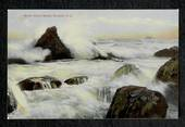 Coloured postcard of Green Island Beach Dunedin. - 49143 - Postcard