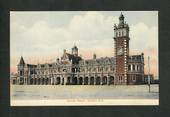 Coloured postcard of Railway Station Dunedin. - 49178 - Postcard