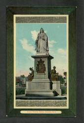 Coloured postcard of Queen Victorai Statue Dunedin. - 49204 - Postcard