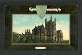 Coloured postcard of Boys' High School Dunedin. - 49209 - Postcard
