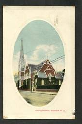 Coloured postcard of Knox Hall Dunedin. - 49212 - Postcard