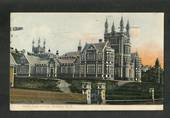 Coloured postcard of Boys' High School Dunedin. - 49237 - Postcard