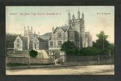Coloured postcard by Muir and Moodie of Boys' High School Dunedin. - 49293 - Postcard