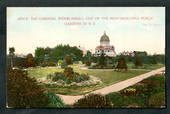 Coloured postcard by Muir and Moodie of The Gardens Invercargill. - 49386 - Postcard