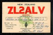 New Zealand ZL2ALV Carl J Heseltine 8 Sussex Street Levin to W G Powell Vogel St Shannon in 1975. - 49765 - Postcard