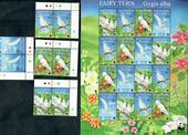 ASCENSION 1999 Fairy Tern. Sheetlet of 16 and set of 4. - 50044 - UHM