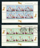 NEW ZEALAND 1969 Health. Set of 2 miniature sheets. One is a spacefiller. - 50691 - Used