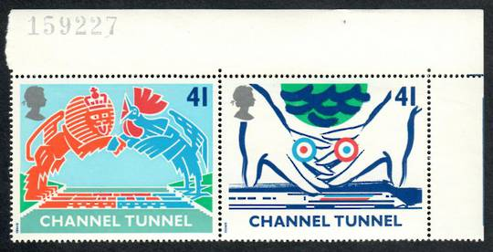 GREAT BRITAIN 1994 Opening of the Channel Tunnel. Set of 4 in joined pairs. - 50770 - UHM