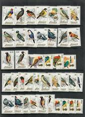 AITUTAKI 1984 Birds Second series. Set of 20. - 50826 - UHM