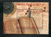 FAROE ISLANDS 2002 150th Anniversary of the Feroya Legting. Miniature sheet. - 50879 - UHM
