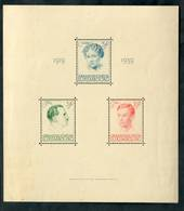 LUXEMBOURG 1939 Twentieth Year of the Reign of Grand Duchess Charlotte. Miniature sheet. - 52129 - UHM