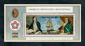COOK ISLANDS 1976 Bicentenary of the American Revolution. Miniature sheet. - 52152 - UHM