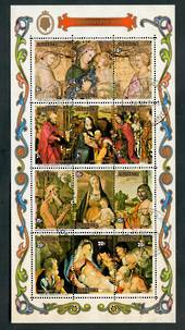 AITUTAKI 1975 Christmas. Miniature sheet. - 52307 - VFU