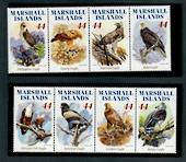 MARSHALL ISLANDS 2009 Eagles. Set of 8. - 52439 - UHM