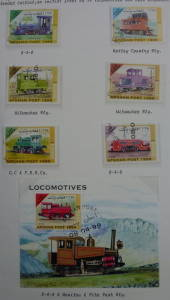 AFGHANISTAN 1999 Locomotives. Set of 6 and miniature sheet. - 58604 - CTO