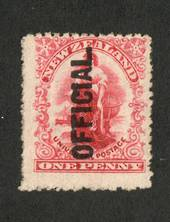 NEW ZEALAND 1901 1d Universal Official. Upright shading on the Globe. - 65 - UHM