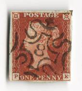 GREAT BRITAIN 1841 1d Red Maltese Obliterator. Number 8. - 70233 - FU