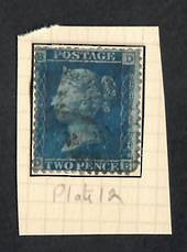 GREAT BRITAIN 1840 2d Blue. Plate 12. - 70313 - Used