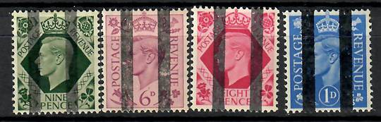 GREAT BRITAIN 1841 pair of 1d Red Brown on very blue paper. Letters RG and RH. Left stamp has only two full margins. - 70364 - U