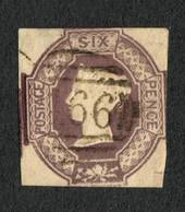 GREAT BRITAIN 1854 6d Mauve.Cut square into the borders. Very light postmark. Attractive copy. - 70399 - VFU