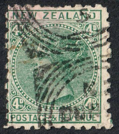 NEW ZEALAND 1882 Victoria 1st Second Sideface  4d Green with advert. Third setting in mauve. Frys pure concentrated cocoa. - 704