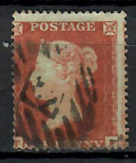 GREAT BRITAIN 1854 1d Red. Letters TF. Well off centre. - 70607 - Used