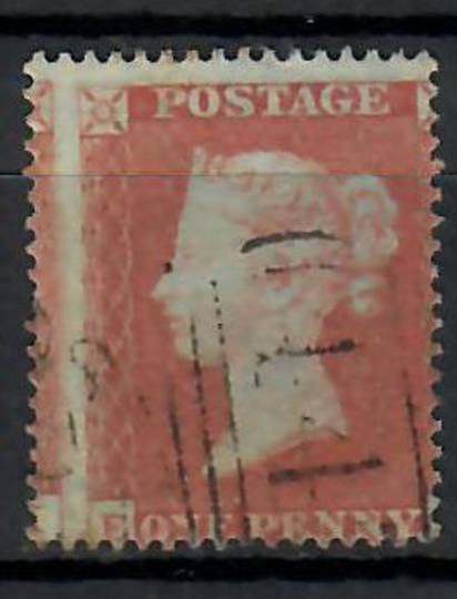 GREAT BRITAIN 1854 1d Red-Brown. Nice light cancel but way off centre so that the right letter does not appear. Letters E and it