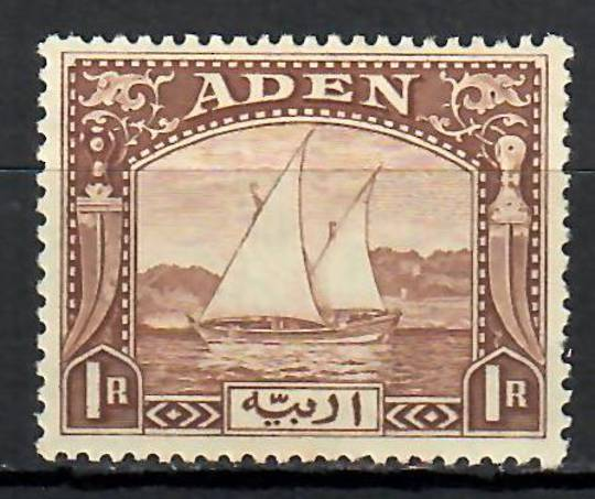 ADEN 1937 Definitive 1r Brown. - 70919 - Mint