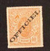 LUXEMBOURG 1875 Official 40c Orange. - 71143 - LHM