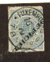 LUXEMBOURG 1875 Official 25c Blue. Cut down the left and dull corner. - 71150 - UHM