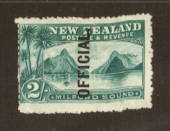 NEW ZEALAND 1898 Pictorial Official 2/- Milford Sound. Very fine copy. - 71291 - LHM