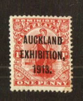 NEW ZEALAND 1913 Auckland Exhibition 1d. Centred slightly north east. - 71308 - LHM