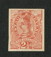 NEW ZEALAND 1882 Second Sideface 2½d Brown. Proof. - 71316 - Proof