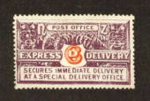 NEW ZEALAND 1926 Express Delivery. Cowan paper. Perf 14x14.1/4. Small adhesion in addition to the hinge remnant. Very nice copy.