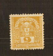 AUSTRIA 1920 Newspaper 9h Yellow-Bistre. Unofficially perforated. - 71529 - Mint