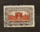 AUSTRIA 1919 Definitive 20k Red-Brown and Violet. Perf 11.1/2. - 71530 - FU