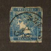 AUSTRIA 1851 Newspaper (0.6k) Blue. Type 2 with well formed G, (refer SG catalogue). Average copy.Two dull corners. - 71534 - Us