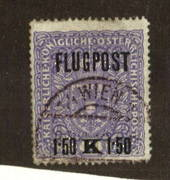 AUSTRIA 1918 Air overprint 1.50k on 2k Mauve. White paper. - 71539 - Used