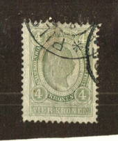 AUSTRIA 1899 Definitive 4k Green. Perf 12.1/2 Line. - 71543 - Used