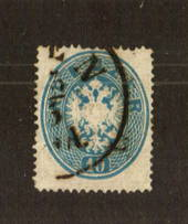 AUSTRIA 1863 10k Blue. Centered north. - 71547 - Used