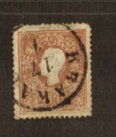 AUSTRIA 1858 10k Brown. Type1. Postmark clear but heavy. - 71548 - Used