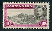 ASCENSION 1938 Geo 6th Definitive 10/- Black and Bright Purple. Perf 13½. - 71977 - LHM
