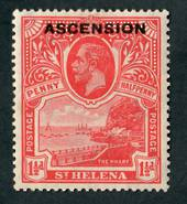 ASCENSION 1922 Geo 5th Definitive 1½d Rose-Red. - 71984 - LHM
