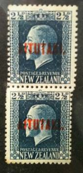 AITUTAKI 1917 Geo 5th 2½d Blue.Two Perf Pair. Superb. - 72003 - UHM