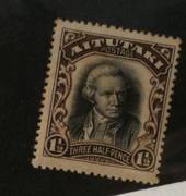 AITUTAKI 1920 Definitive 1½d Black and Sepia. Captain James Cook - 72027 - UHM