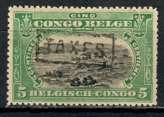 "BELGIAN CONGO 1909 Definitive 5c Black and Green with TAXES ""postmark. Refer note in Stanley Gibbons. We take pleasure in noting"