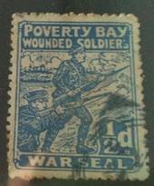 NEW ZEALAND 1915 Poverty Bay Provincial Wounded Soldiers Fund with postmark. - 73811 - Cinderellas