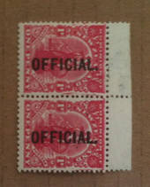 NEW ZEALAND 1925 1d Dominion Official. Jones paper. Slightly blurred print. - 74132 - UHM
