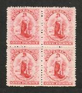 NEW ZEALAND 1901 1d Universal. Block of 4. Worn Plate. - 74135 - UHM