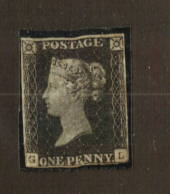 GREAT BRITAIN 1840 1d Black. Small faults but still four margins just touching. - 74474 - MNG